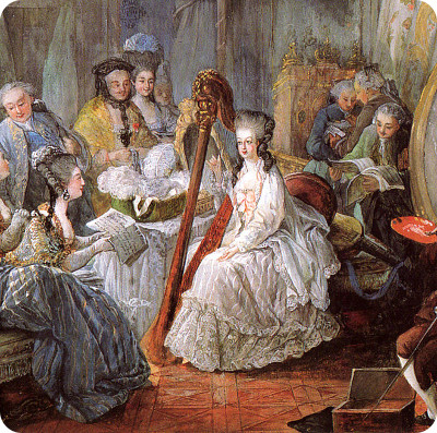 Marie Antoinette in ihrem Salon